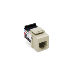 QuickPort® 41106-RI6 Quickport Connector, USOC Voice Grade Module, Flush Mount, 1 Port, Plastic, Ivory