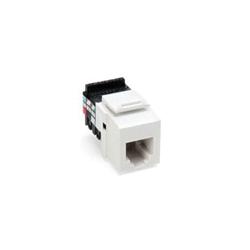 QuickPort® 41106-RW6 Quickport Connector, USOC Voice Grade Module, Flush Mount, 1 Port, Plastic, White