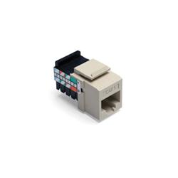 QuickPort® 41108-RI5 Quickport Connector, Cat 5 Module, Flush Mount, 1 Port, Plastic, Ivory