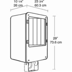 FLOODINATOR 1000W HPS HPF QT TRUNNION AND LAMP BRONZE