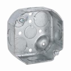 RACO® 126 Octagon Box, Steel, 15.5 cu-in, 8 Knockouts