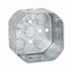 RACO® 167 Octagon Box, Steel, 21.5 cu-in, 9 Knockouts