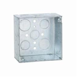 RACO® 233 Square Box, Steel, 30.3 cu-in, 13 Knockouts