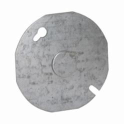 RACO® 703 Flat Round Box Cover, 3-1/2 in Dia, 0.06 in D, Steel