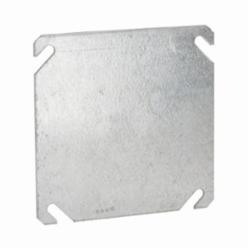 RACO® 752 Blank Flat Square Box Cover, 4 in L x 4 in W x 0.06 in D, Steel