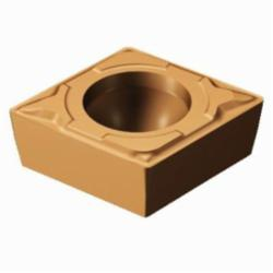 Sandvik Coromant Turning Insert, Series: CoroTurn® 111, CPMT Insert, C-80 deg Diamond, 1.8 mm Maximum Depth of Cut, 3/8 in Inscribed Circle, 0.1562 in Thickness, 0.3807 in Length, MF Chipbreaker, 0.0312 in Corner Radius, 0.1732 in Hole Dia, Manufacturer's Grade: 1125, ANSI Code: CPMT 3(2.5)2-MF 1125, ISO Code: CPMT 09 T3 08-MF 1125, 80 deg Included Angle, 11 deg Relief Angle, Neutral Hand, Carbide, PVD Coated, Material Grade: M