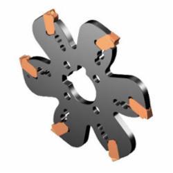 Sandvik Coromant 6657519 CoroMill® QD Indexable, QD..X Insert, 4.9212 in Dia x 0.0984 in W Cutting, Right Hand, Arbor Shank