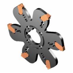 Sandvik Coromant 6657493 CoroMill® QD Indexable, AQD..Y..C Insert, 4 in Dia x 0.1574 in W Cutting, Right Hand, Arbor Shank