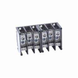 Square D 9080LBA361104 POWER DISTRIBUTION BLOCK 600V 115A,(1)#14 to #2 AWG (4)#18 to #10 AWG,115A 90A,600 V AC,9080LB,High Impact Thermoplastic,Lugs Tin Plated Aluminum,Miniature Power Distribution Block