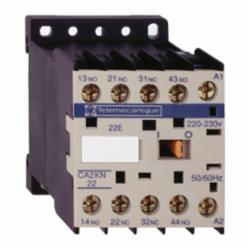 Schneider Electric CA2KN40G7 CONTROL RELAY 600VAC 10AMP IEC +OPTIONS,-25...50 deg.C,10 A at <= 50 deg.C,120VAC,4 NO,IP2x,Screw Clamp,TeSys,UL Listed File Number 164353 CCN NKCR - CSA Certified File Number LR43364 Class 3211 03 - CE Marked,control circuit,control relay,plate-rail
