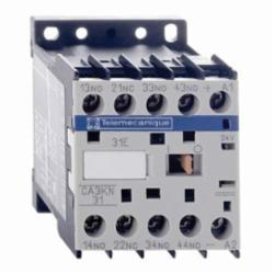 Schneider Electric CA3KN31BD CONTROL RELAY 600VAC 10AMP IEC +OPTIONS,-25...50 deg.C,10 A at <= 50 deg.C,24VDC,3 NO + 1 NC,IP2x,Screw Clamp,TeSys,UL Listed File Number 164353 CCN NKCR - CSA Certified File Number LR43364 Class 3211 03 - CE Marked,control circuit,control relay,rail-plate