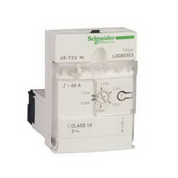 Schneider Electric LUCB1XFU ADV.CNTRL.UNIT-CL10-3PH 0.3-1.4A 110-240VAC,-25...70 deg.C,0.35...1.4 A,110/240V,3-Phase,600 V conforming to CSA C22.2 No 14-600 V conforming to UL 508-690 V conforming to IEC 60947-1,IP40 front panel outside connection zone conforming to IEC 60947-1-IP20 other faces conforming to IEC 60947-1-IP20 front panel and wired terminals conforming to IEC 60947-1,LUCB,advanced control unit,manual reset-protection against overload and short-circuit-protection against phase failure and phase imbalance-earth fault protection,LUFV2-LUFW10-LUFC00-LUFDA01-LUFDA10-LUFDH11-LUFN..,basic protection and advanced functions, communication,Solid State (Class 10),TeSys,TeSys U,front side,plug-in