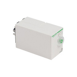 Schneider Electric RE88867215 TIMER 250V 8A RE88 +OPTIONS,-4 to 140,0.1 s to 100 h 0.1 to 1sec 1 to 10sec 0.1 to 10min 1 to 10min 0.1 to 1hr 1 to 10hr 10 to 100hr,50/60 Hz,8A,DPDT,IP20 (Terminal Block)IP40 (Enclosure) - IP50 (Front panel),On-delay,Plug-In (Socket Mount),Plug-In Timer,Zelio,cURus - GL - RoHS - CE - CSA,plug-in sub-base 8 pin(s)
