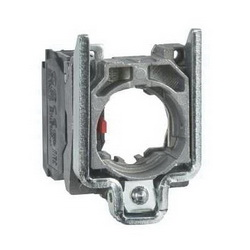 Schneider Electric ZB4BZ103 ZB4 Single Slow Break Contact Block With Body/Fixing Collar, 2NO, Silver Alloy Contact