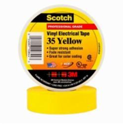 Scotch® 054007-10844 Premium Electrical Tape, 3/4 in W x 66 ft L, 7 mil THK, PVC, Yellow