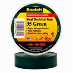 Scotch® 054007-10851 Premium Electrical Tape, 3/4 in W x 66 ft L, 7 mil THK, PVC, Green