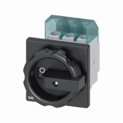DISC SWITCH 3P BLK ROTARY 25A 4HOLE DOOR