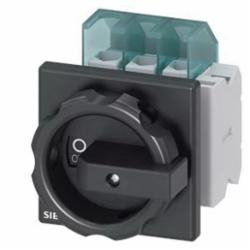 1ISC SWITCH 3P BLK ROTARY 25A 4HOLE DOOR