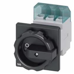 DISC SWITCH 3P BLK ROTARY 25A 1HOLE DOOR