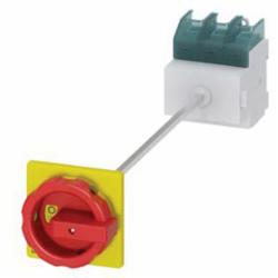 DISC SWITCH 3P R/Y ROTARY 63A DINRL BASE