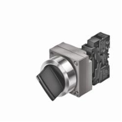 Siemens SEL SWITCH, MTND, BLK, 2POS, RND-MTL