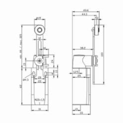 Siemens LIMIT SW,ADJ ROLLER CRANK,1NO+1NC,M20