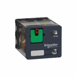 Schneider Electric RPM32F7 PLUG-IN RELAY 250V 15A RPM +OPTIONS,(NO) AC 25ms DC 25ms (NC) AC 20ms DC 20ms,-40...55 deg.C,120 VAC,1200 operating cycles/hour,15A,2770 Ohms,3 C/O,B300,Flat/Spade (Faston Type),IP 40 conforming to IEC/EN 60529,Plug-In Socket (DIN rail or Flange with adapter),Power,plug-in relay,UL Listed - CSA Certified - CE Marked - RoHS Compliant