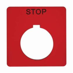 Schneider Electric 9001KN102RP 30MM LEGEND PLATE - STOP,30 mm,57 x 57 mm,Harmony 9001 SK-Harmony 9001 K,black STOP on red background,control and signalling units ? 30 mm,legend plate