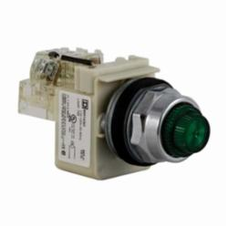 Schneider Electric 9001KT1G31 PILOT LIGHT 120VAC 30MM TYPE K +OPTIONS,30mm,Green,Harmony,NEMA 1/2/3/3R/4/6/12/13,Panel,Pilot Light,Round,Signalling,Transformer 110/120VAC@50/60Hz,UL listed, CSA, CE,chromium plated metal,push-to-test