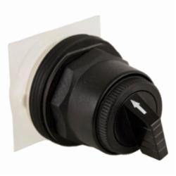 Square D™ Harmony™ 9001SKS43B Non-Illuminated Selector Switch Operator, 30 mm, Round Knob Operator, 3 Positions, Black