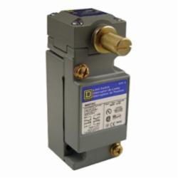 Square D 9007C62B2 LIMIT SWITCH 600V 10AMP C +OPTIONS,-,metal,plug-in,-20...185 deg.F for standard environment,0.5 Inch NPT Conduit Entrance (screw clamp terminals),1 entry for 1/2 - 14 NPT conforming to ANSI B1.20.1,plug-in,10 A,2(NC-NO),600V,9007,limit switch,plug-in,rotary head,9007C,heavy duty,rotary head,Lever Arm (ordered separately) CW and CCW,NEMA A600/R300,UL Listed - CSA Certified - CE Marked,rotary,standard environment