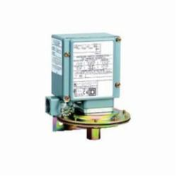 Square D 9012GAW1 PRESSURE SWITCH 480VAC 10AMP G +OPTIONS,-10...185 F,0.2...10 psi,0.25 inch 18 NPTF conforming to UL 508,0.5 inch NPT conduit entrance,10 psi,120 operating cycles per minute (max),Adjustable Differential,NEMA 4/4X/13,Pressure Switch,SPDT (isolated),Single Stage,UL, CSA, IEC, CE-marked,Water tight, Dust tight, Oil tight and Corrosion Resistant (Indoor/Outdoor),air-hydraulic oil (-40...250 deg.F)-non-corrosive liquids-non-corrosive gas