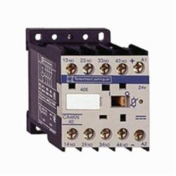Schneider Electric CA4KN22BW3 CONTROL RELAY 600VAC 10AMP IEC +OPTIONS,-25...50 deg.C,10 A at <= 50 deg.C,2 NO + 2 NC,24VDC (Low Consumption),IP2x,Screw Clamp,TeSys,UL Listed File Number 164353 CCN NKCR - CSA Certified File Number LR43364 Class 3211 03 - CE Marked,control circuit,control relay,plate-rail