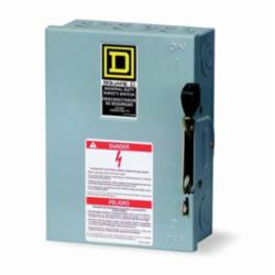 Square D D221N SWITCH FUSIBLE GD 240V 30A 2P NEMA1,240 Vac,30 A,General Purpose (Indoor),Lugs,NEMA 1,Single Throw,Single Throw Safety Switch,UL Listed File E2875,general duty,general duty,surface