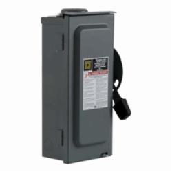 Square D D222NRB SWITCH FUSIBLE GD 240V 60A 2P NEMA3R,240 Vac,60 A,Galvannealed Steel,Lugs,NEMA 3R,Rainproof and Sleet/Ice proof (Indoor/Outdoor),Single Throw,Single Throw Safety Switch,UL Listed File E2875,general duty,general duty,surface