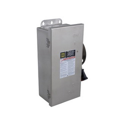 Square D H321DS SWITCH FUSIBLE HD 30A 3P STAINLESS,240 V AC-250 V DC,30 A,304 Stainless Steel,Lugs,NEMA 3/3R4/4X/12,Rainproof, Dust tight and Corrosion Resistant (Indoor/Outdoor),Single Throw,Single Throw Safety Switch,UL Listed,heavy duty,heavy duty,surface