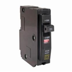 Square D™ QO120 Miniature Circuit Breaker, 120/240 VAC, 20 A, 10 kA Interrupt, 1 Pole, Thermal Magnetic Trip