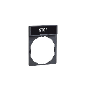 Schneider Electric ZBY2304 STD N/P HOLDER MRKD S T O P,-25 to +70 Degrees C,22mm Round,Harmony,IP65,IP65,Pushbutton Legend Holder,Red White STOP