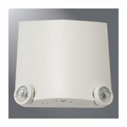 Sure-Lites LEM2 Emergency Light Fixture, 1 W LED Lamp, 120 to 277 VAC, 2 Heads, Thermoplastic