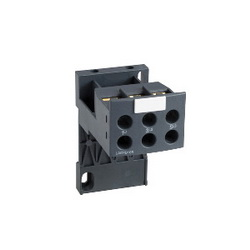Schneider Electric LAD7B106 TERMINAL BLOCK FOR TH.OLR UP-38A ON 35MM R,-5C to 55C,3,Din Rail or panel mount,Overload Relay Terminal Block,Screw Clamp,Separate mounting kit for LRD01-35 and LR3D01-35 overload relays with ring tongue terminals,TeSys,Terminal blocks for separate mounting on 35mm rail (AM1DP200) or panel LR3D01...D35 and LRD01...35 overload relays