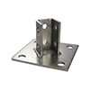 CALPIPE S45800PBSQ SS304 POST BASES TYPE 304 STAINLESS STEEL