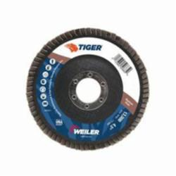 Tiger® 50665 Flat Premium Type 29 Coated Flap Disc, 4-1/2 in Dia, 7/8 in, 80 Grit, Medium Grade