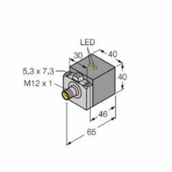 TUR BI20U-CA40-AP6X2-H1141/S1590 /WBS2.0 Sensor, Quick Disconnect with Eurofast (M1627297)