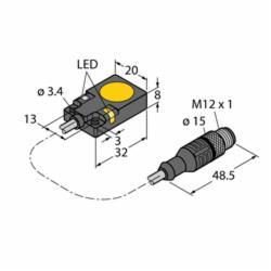 TURCK BI 7-Q08-AP6X2-0.2M-RS 4T (S1601683)