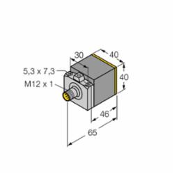 TUR NI25-CK40-LIU-H1141 W/BS 2.1 Sensor, Quick Disconnect with Eurofast (M1537891)