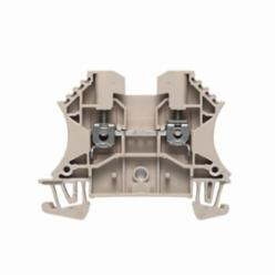 Weidmuller WDU Single-Tier Terminal Block, 800 VAC, 24 A, 30 to 12 AWG Wire, Snap-On in TS 35 Mount