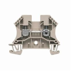 Weidmuller WDU Single-Tier Terminal Block, 800 VAC, 32 A, 26 to 10 AWG Wire, Snap-On in TS 35 Mount