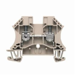 Weidmuller WDU Single-Tier Terminal Block, 800 VAC, 41 A, 22 to 8 AWG Wire, Snap-On in TS 35 Mount