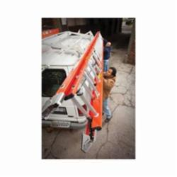 Werner® D6224-2 Flat D-Rung Extension Ladder, 24 ft OAL, A14.5 ANSI, 300 lb Load, Fiberglass, 12 in