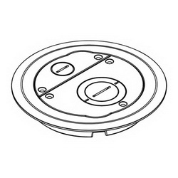Legrand-Wiremold 6CFFTCGY 6IN FURNITURE FEED COV